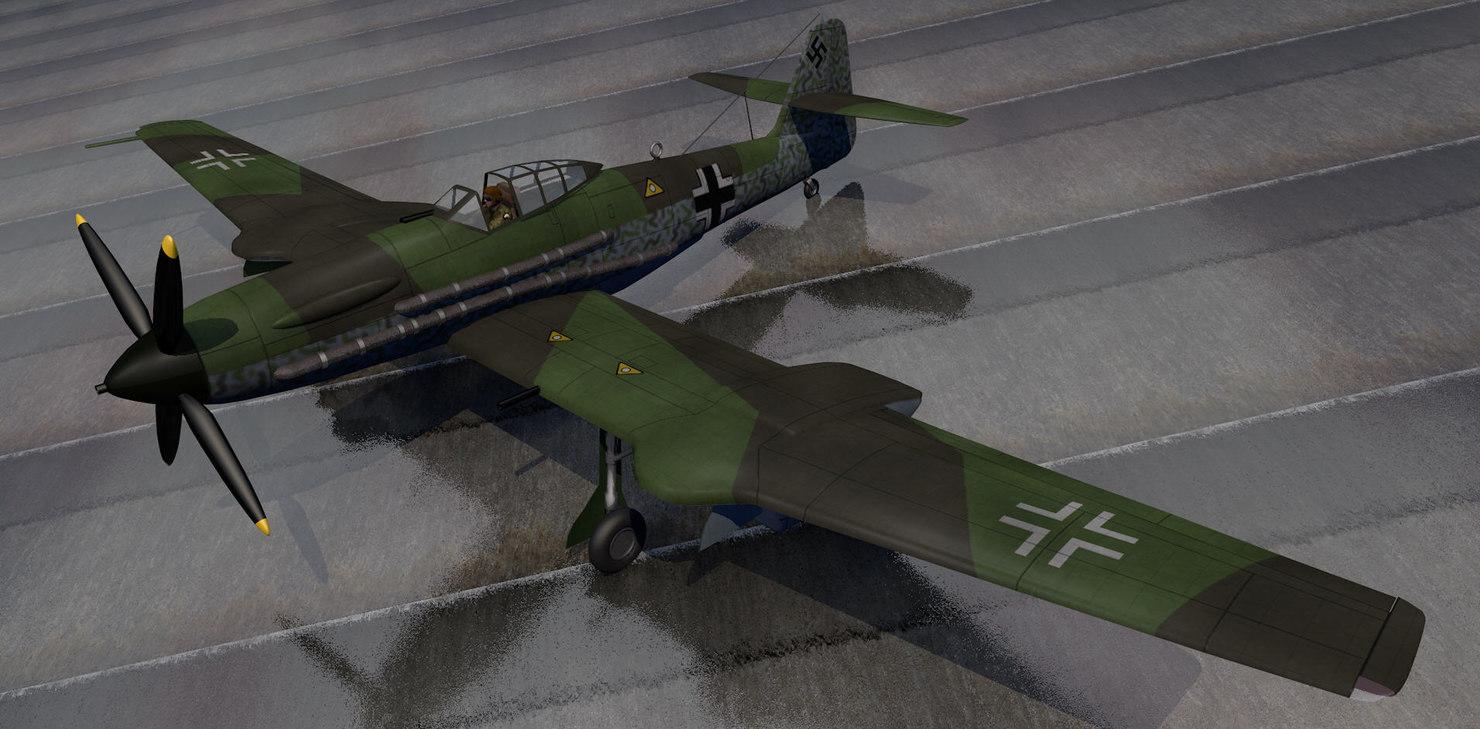 plane blohm voss bv-155 3ds