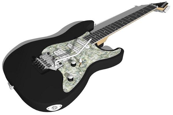 3d washburn guitar