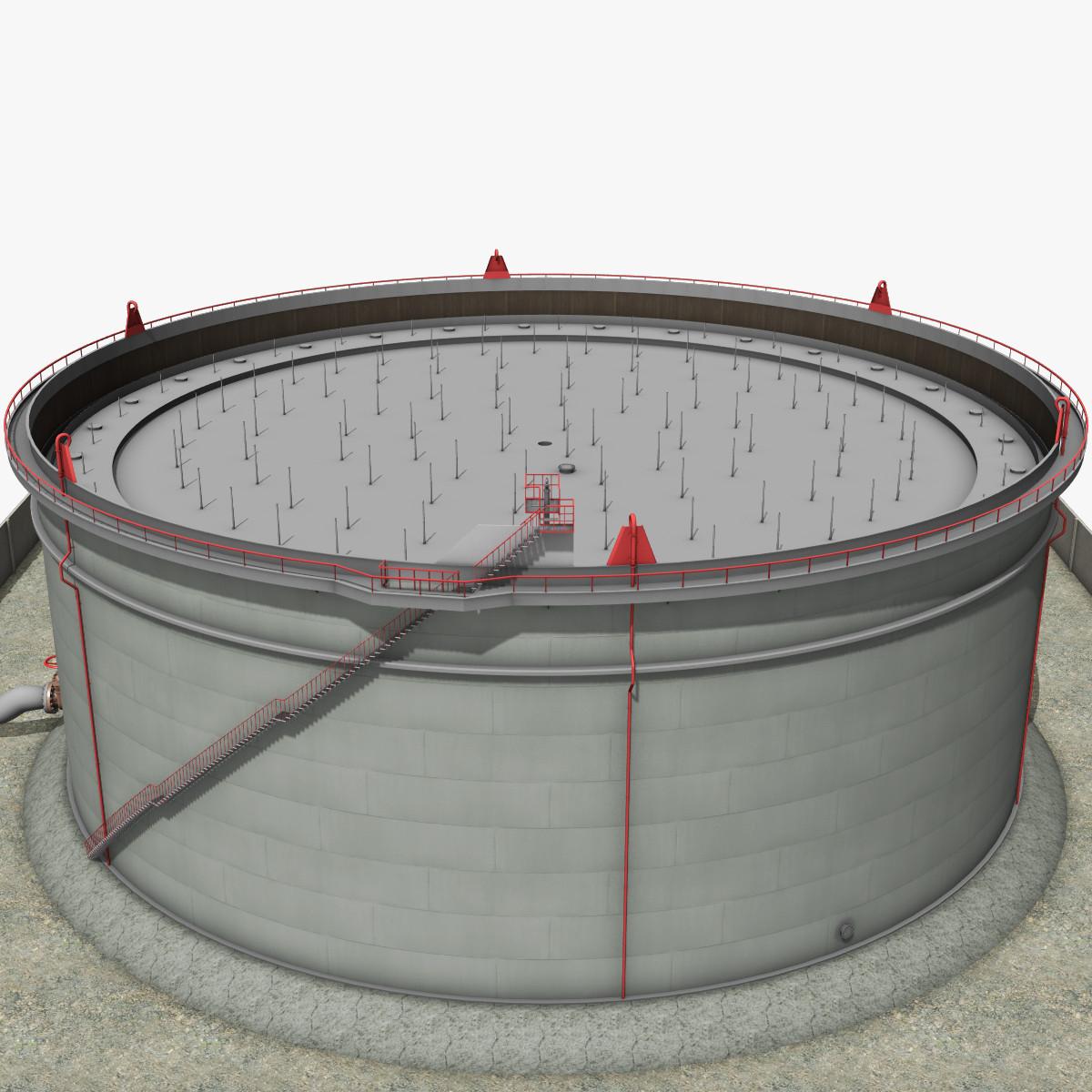 crude oil storage tank 3d max
