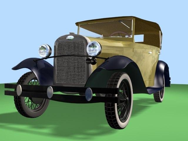 passenger car prewar 3d model