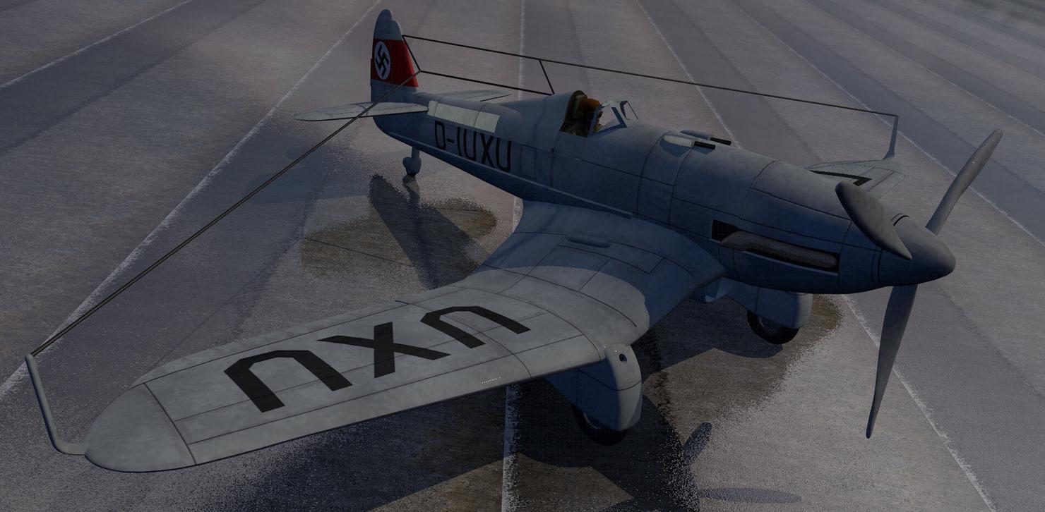 3d model plane blohm voss bomber