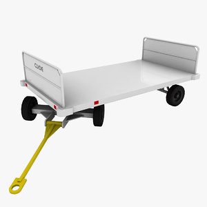 clyde 15f2900 baggage cart obj