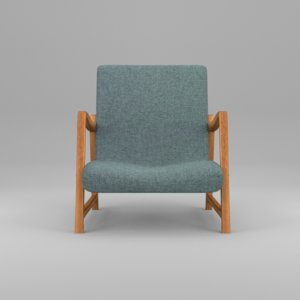 3d old style armchair grey model