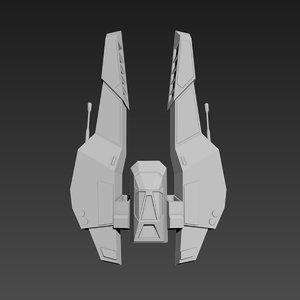 spaceship ship 3d model