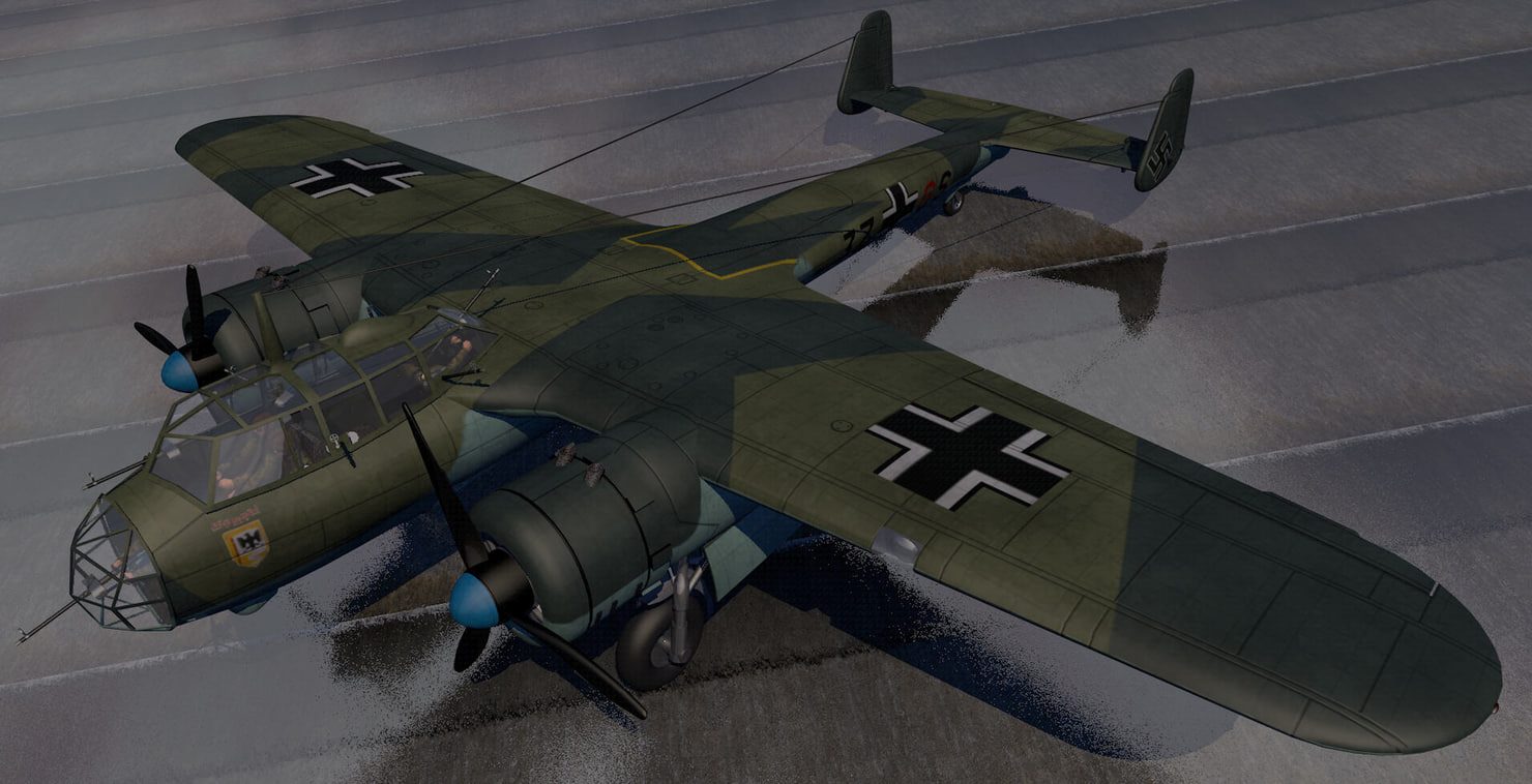 dornier do-17z-2 bomber aircraft 3d model