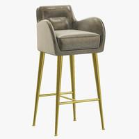 3d essential home dandridge bar chair
