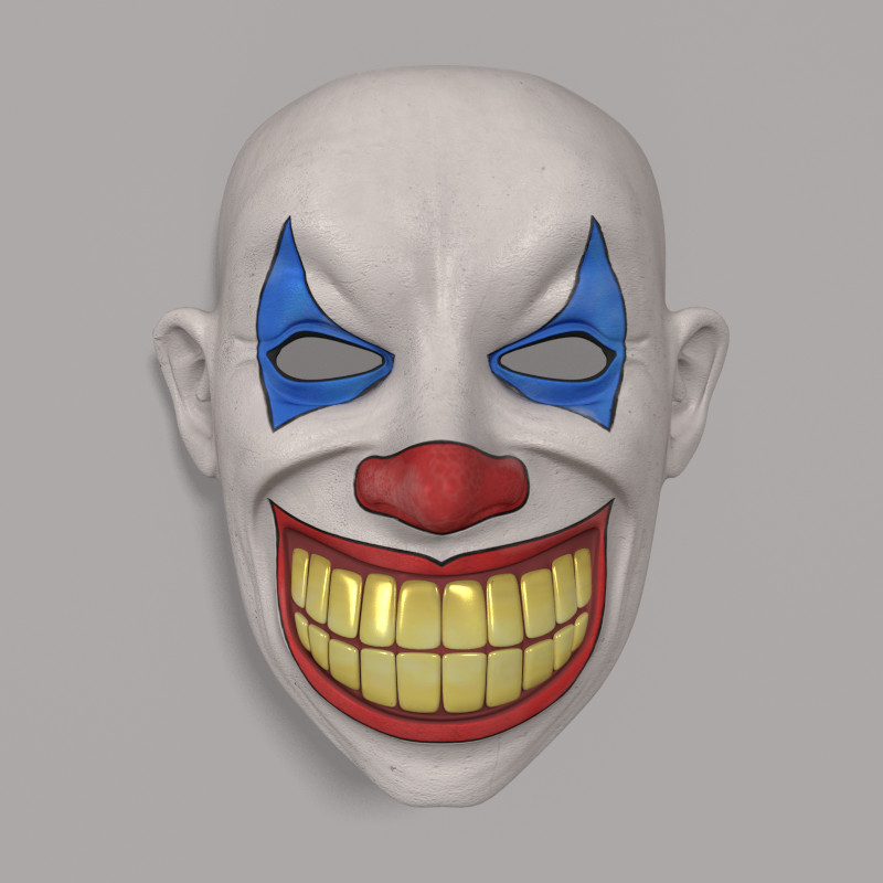 clown mask obj