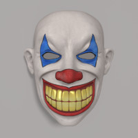 clown mask obj