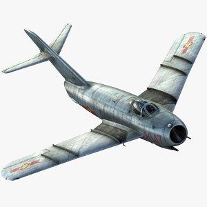 mig-17f fighter 3d model