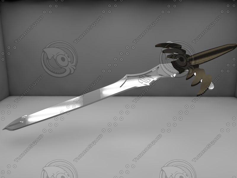 3d sword medieval model