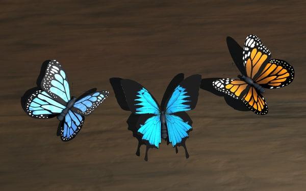 c4d butterfly wings