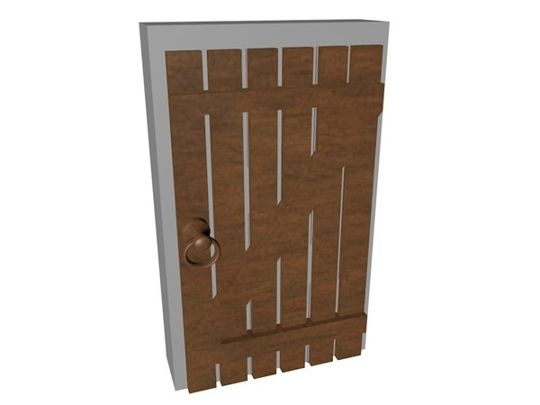 3d dxf wooden door