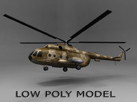 3d helicopter polys model