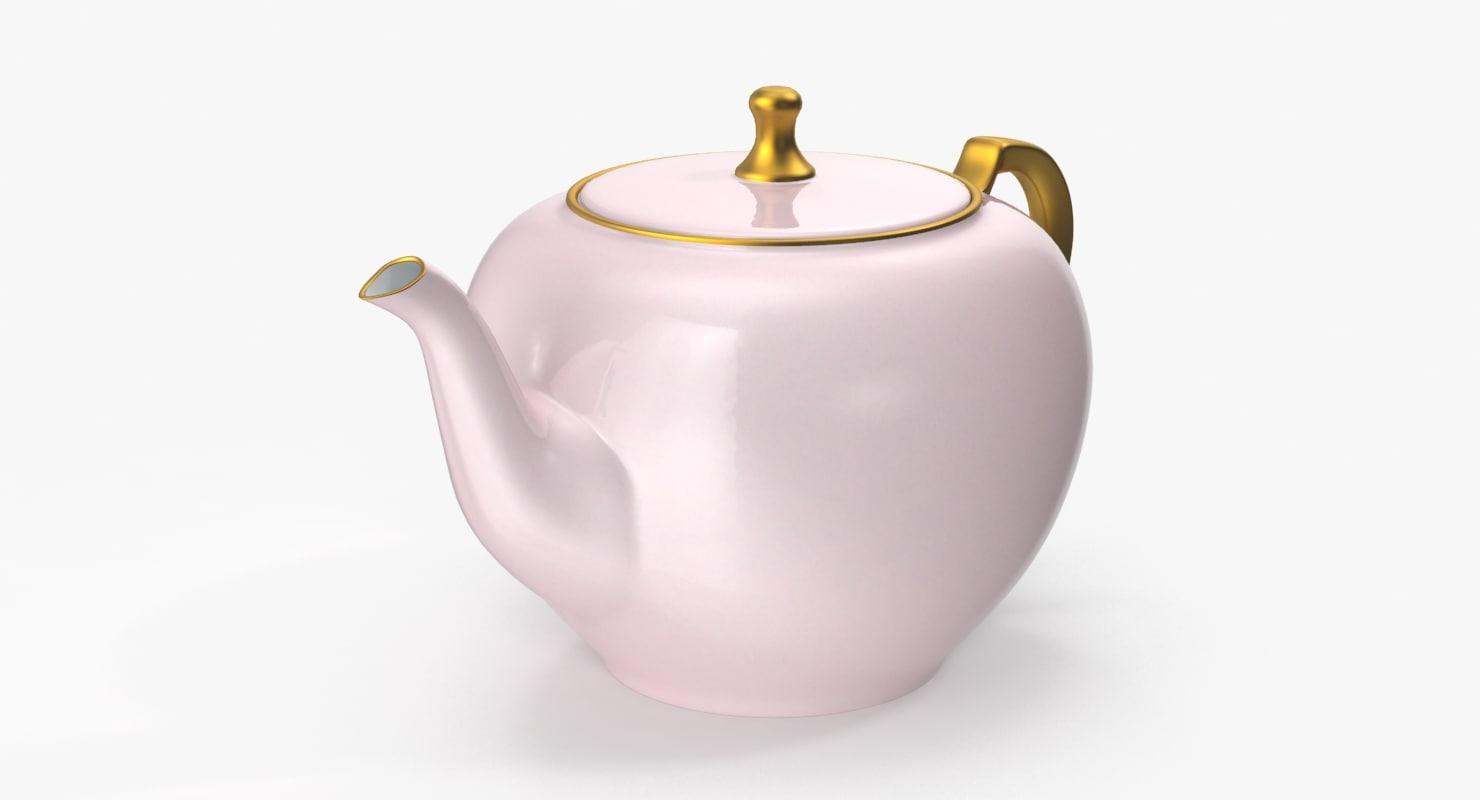 princess tea pot 3d max