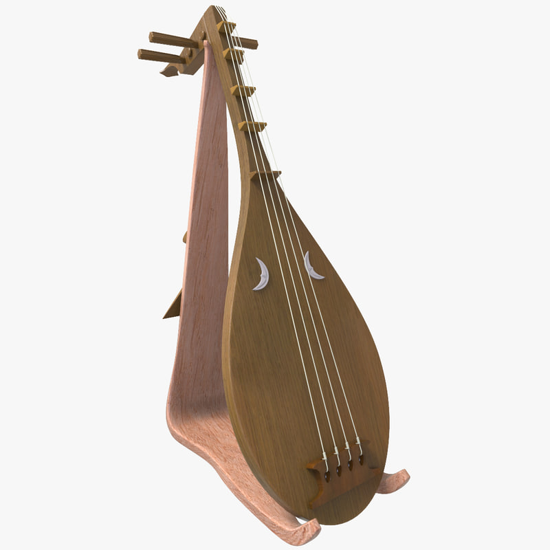 3d biwa music instrument