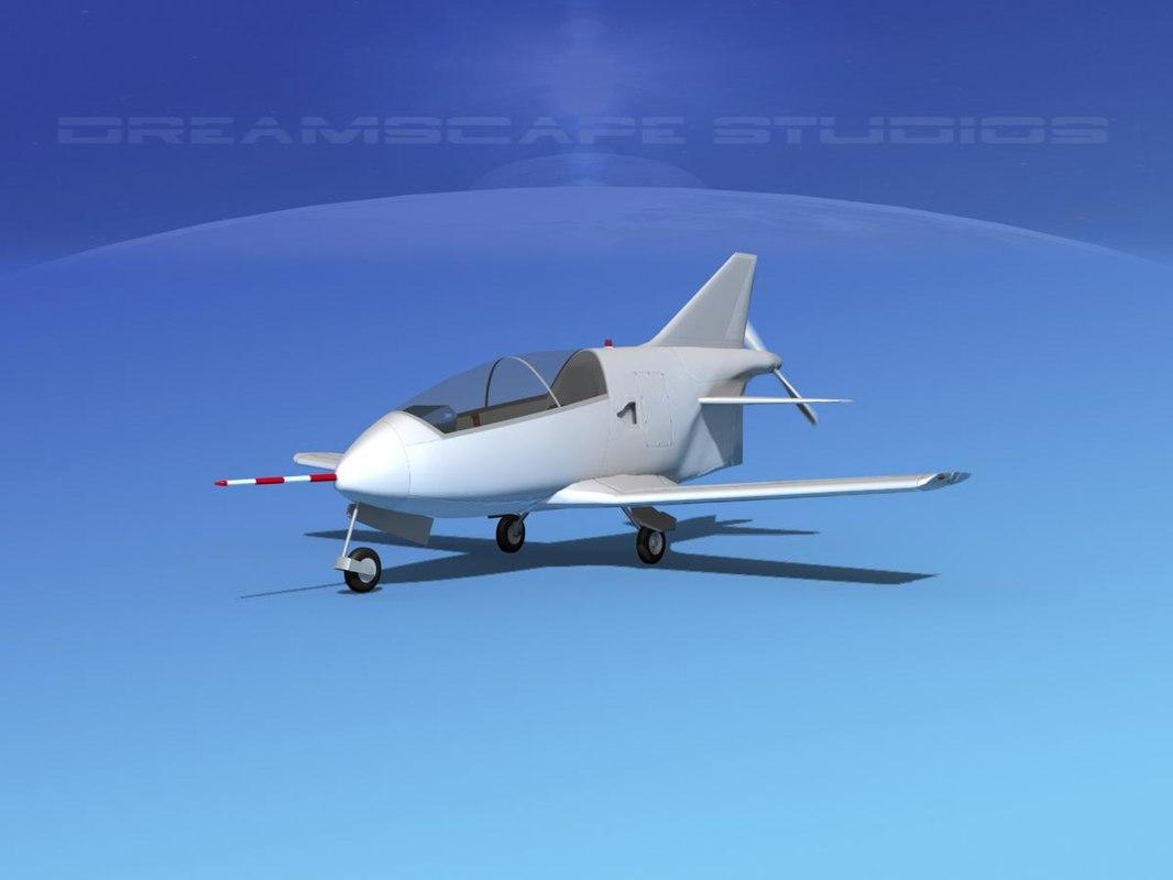 plane bd-5 bede 3d model