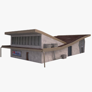 3d model modern supermarket