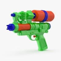 3d water-gun-02---squirtgun-standing model