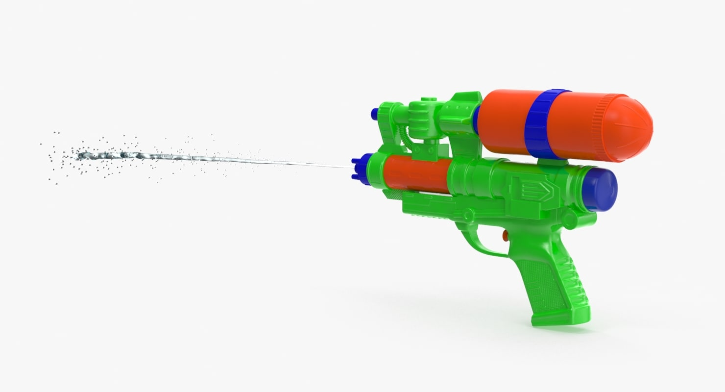 3d water gun shooting