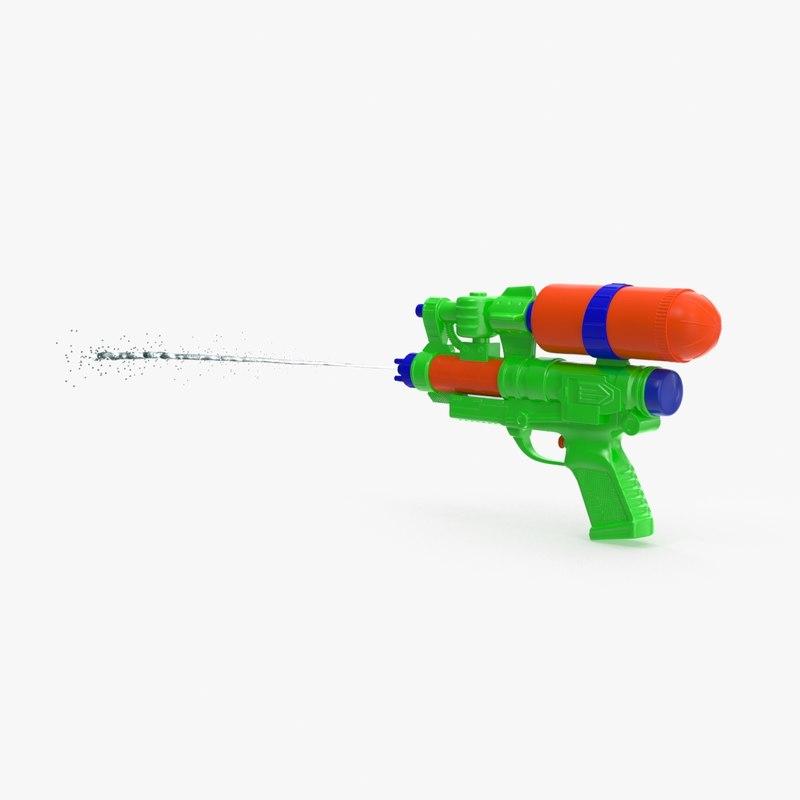 Water Gun 3D Models for Download | TurboSquid