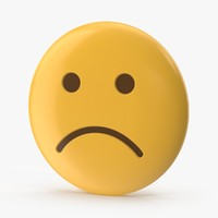 3d model of sad face