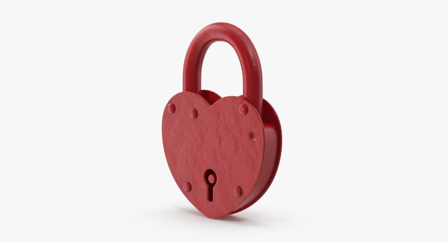 heart shape lock closed max