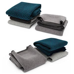 3d blanket materials model