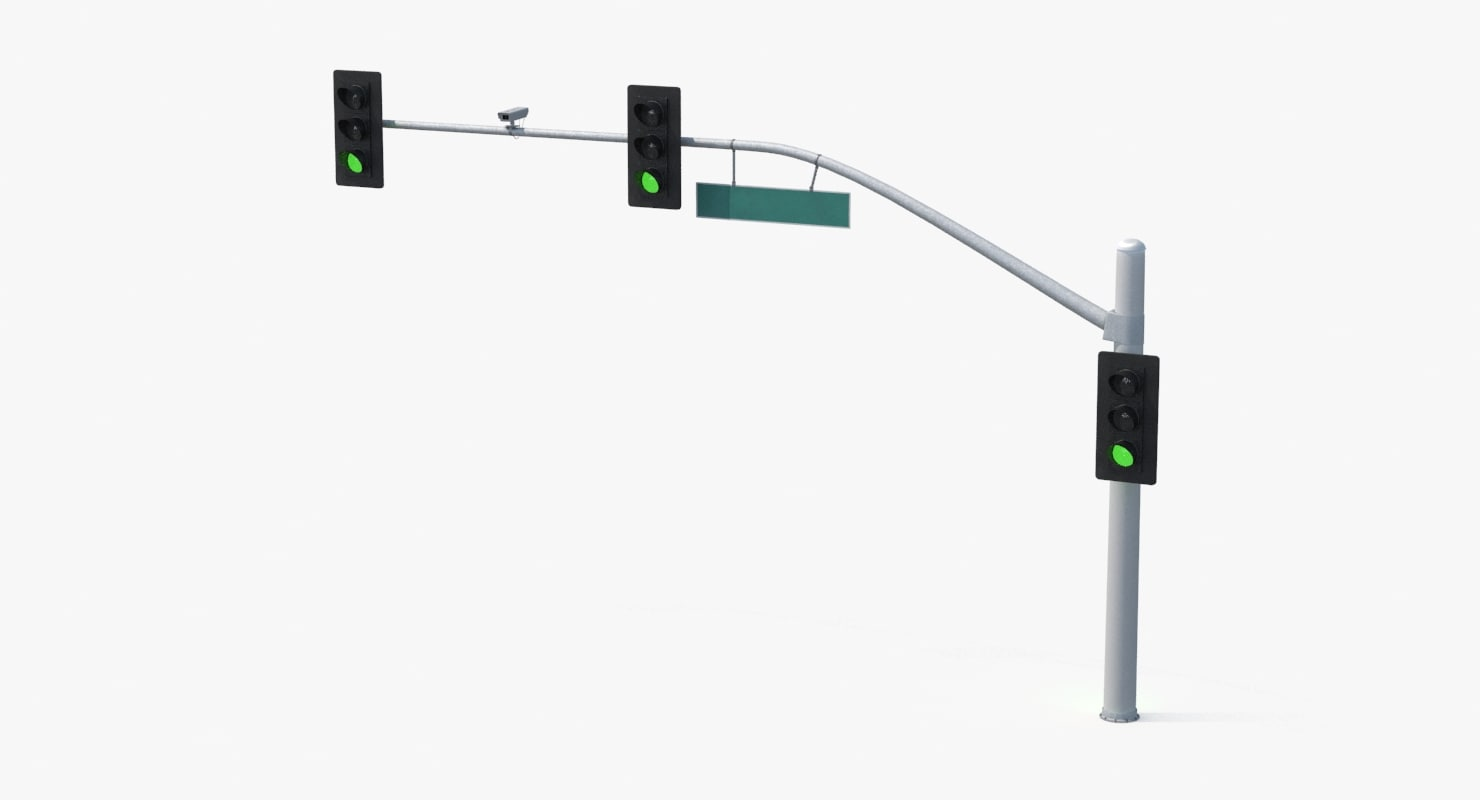 long stop light 3d max
