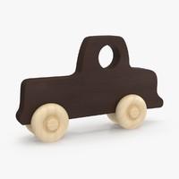 baby wooden car 2 3d model