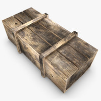 3d model realistic wooden box 02