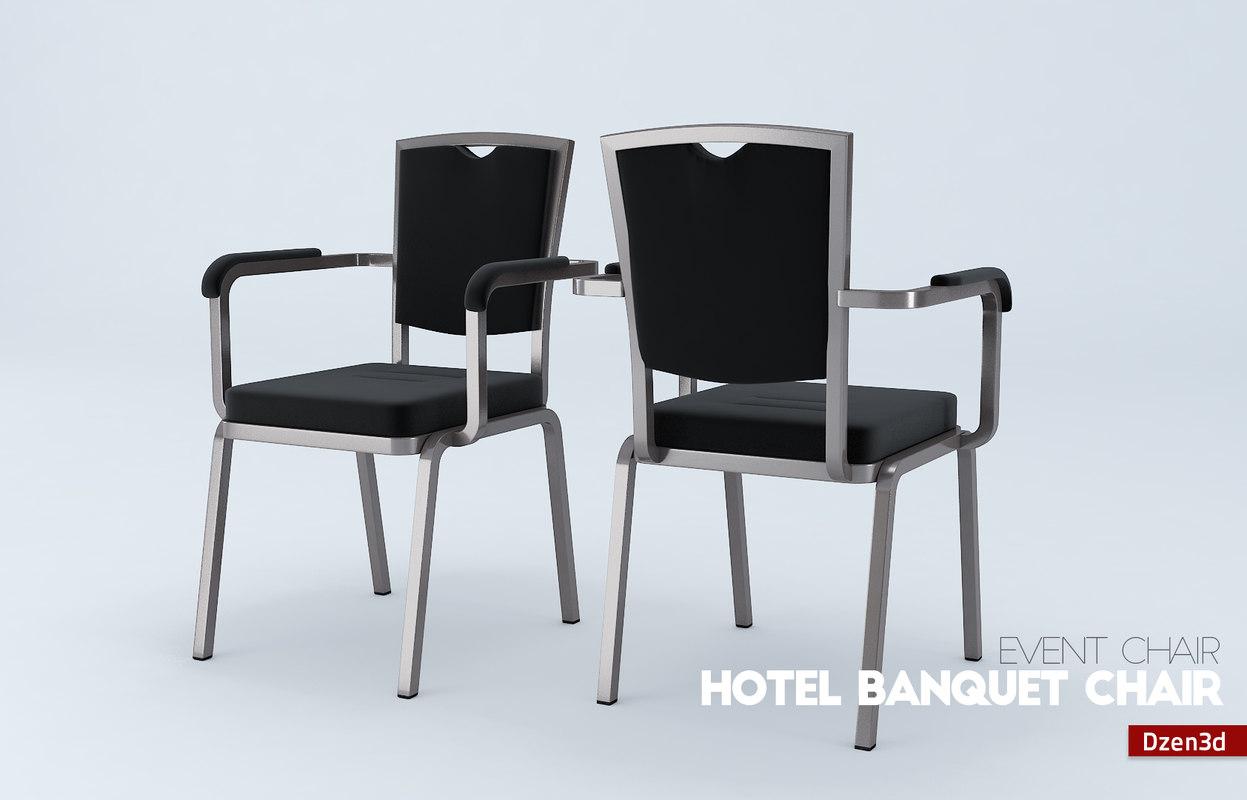 3d hotel banquet chair model