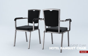 3d hotel banquet chair model