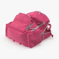 3d model kid backpack