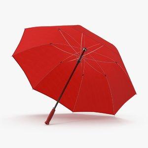 max open red umbrella