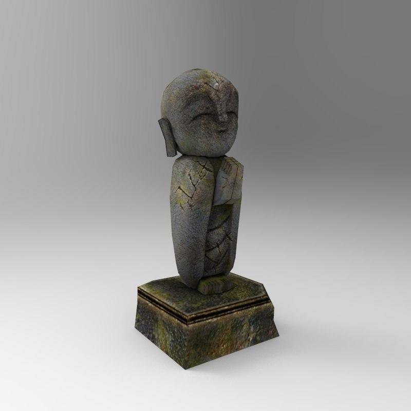 stone statue 3d max