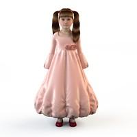 fashion dressed girls 3d model