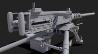 3d m2 browning machine gun model