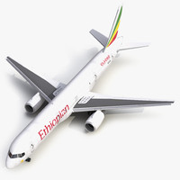 3d model boeing 757-200f ethiopian airlines