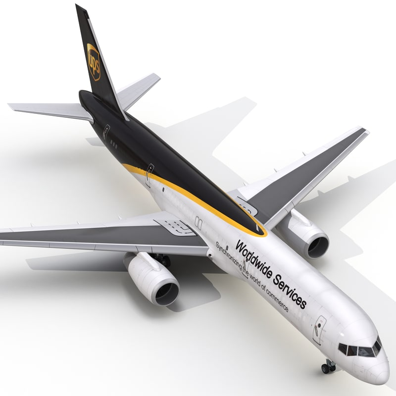 3d boeing 757-200f ups airlines model