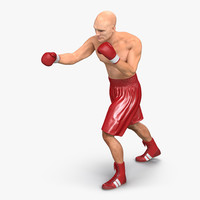 3ds boxer man 2 pose