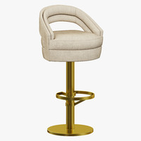 essential home russel bar chair 3d 3ds