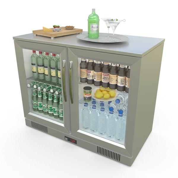 counter fridge 3d max