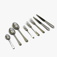 flatware spoon fork knife