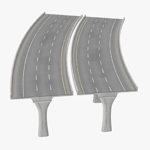 3 lane raised highway max