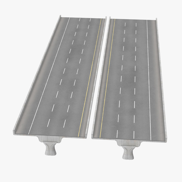 3 lane raised highway c4d