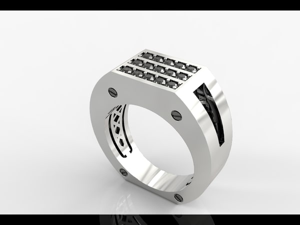 white gold wedding rings 3d 3ds