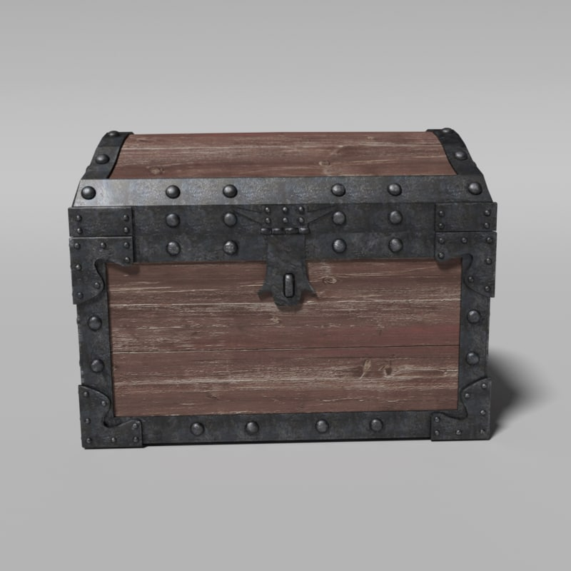 3d model realistic chest