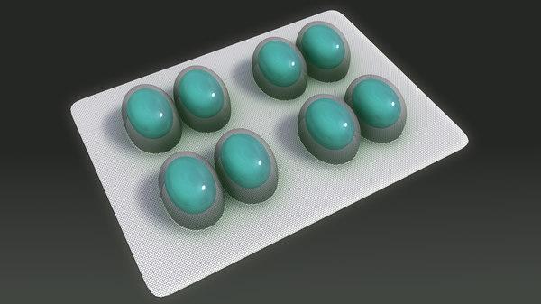 tablet pharmacy 3d obj