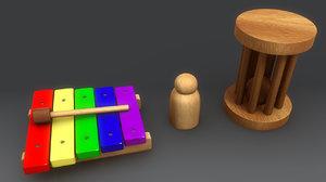 3d wood toys