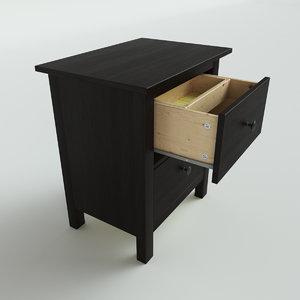 ikea hemnes 2-drawer chest 3d model